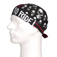 Bandana Cap Skull Red Stripe