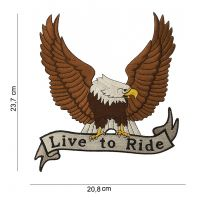 Patch Live To Ride Eagle