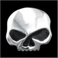 Half Skull Black Eyes Pin